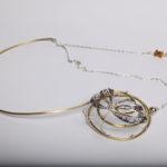 "Necklace ""butterfly"", fine silver 925, brass, contact@mmarija.com.mk"