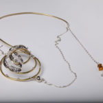 "Necklace ""butterfly"", fine silver 925, brass, contact@mmarija.com.mk"