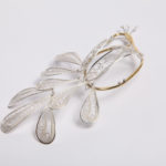 """brooch""""peacock"""", fine silver 925, brass, contact@oro.mk"""