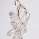 "Necklace ""twist"", fibrooch""peacock"", fine silver 925, brass, contact@mmarija.com.mkne silver 925, brass, contact@oro.mk"