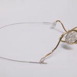 "Necklace ""snail"", fine silver 925, brass, contact@mmarija.com.mk"